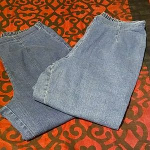 Bundle of 2 Blue Jean capris